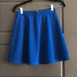 Royal Blue Pleated Skirt w/ Gold Zipper